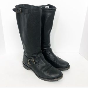 FRYE Black Leather Boots Size 9.5